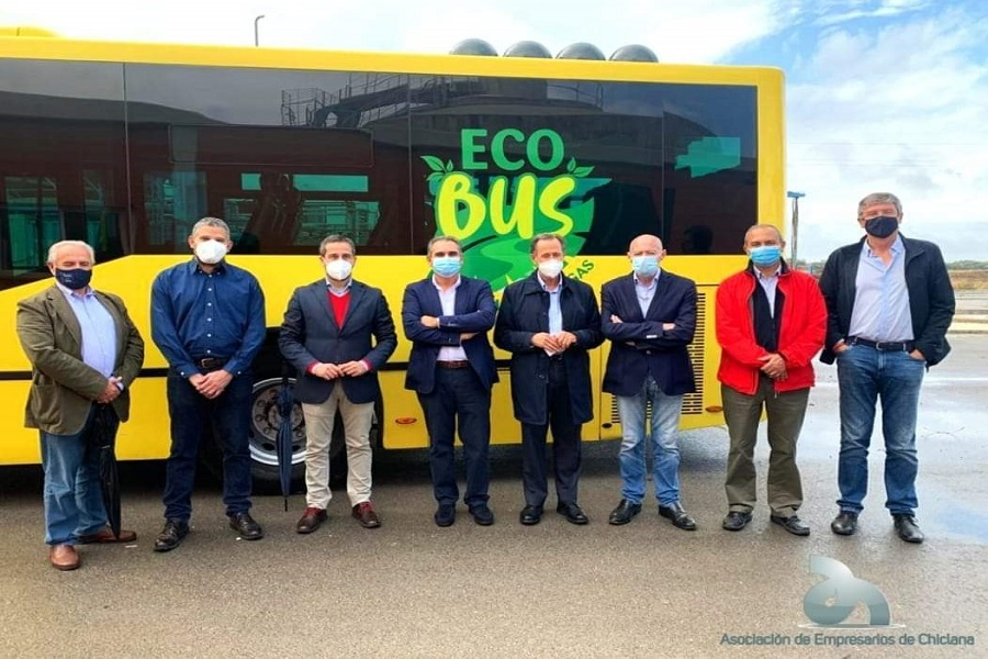 Los Empresarios acompañamos a la empresa Novobus en la presentación del primer autobús propulsado por biogás.
